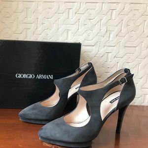 Giorgio Armani Gray Suede women's shoes size 38
